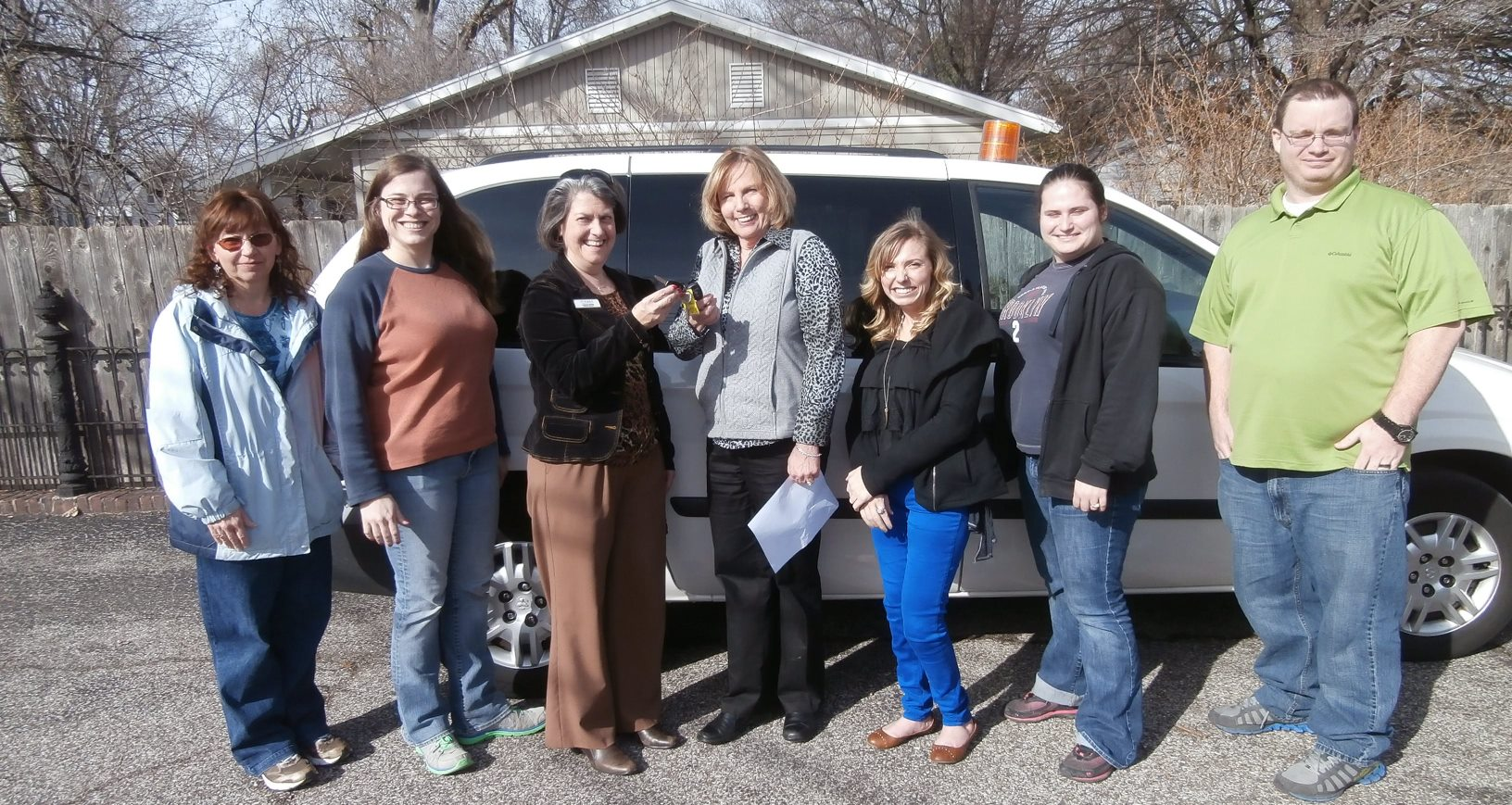 Official receipt of Dodge Caravan donated to Aurora on Feb 20,2014